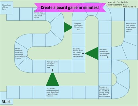 printable board games for sunday school easy breezy sunday school create a board game in minutes