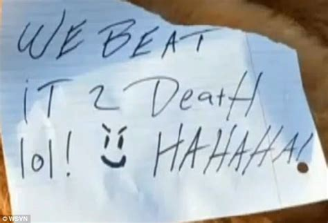signs of pomeranian dying pomeranian beaten to with note we beat it 2 lol
