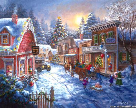 christmas scenes wallpaper christmas town scene
