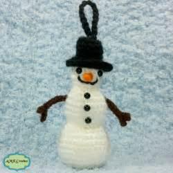 patterns christmas snowman free tiny snowman ornament crochet pattern amk crochet