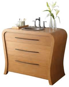 43 inch single sink bath vanity in bamboo contemporary