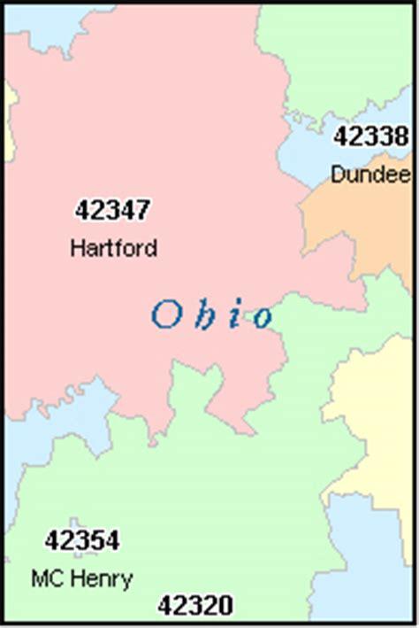 zip code map kentucky ohio county kentucky digital zip code map