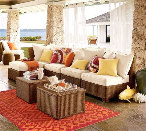Pottery Barn Outdoor Sectional by Designing Outdoor Living Room W Palmetto Sectional By