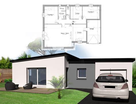 Construction Site Plan by Style D Architecture Quot Maison Plain Pied Quot Kermor Habitat