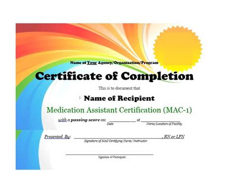 certificate of completion template powerpoint 40 fantastic certificate of completion templates word