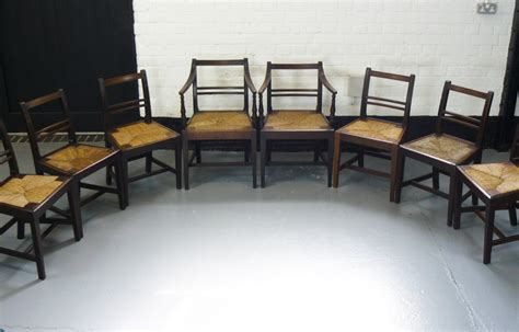 Glowing Chairs Make For Great Late Barbecues by Set Of 8 Georgian Country Dining Chairs Include 2 Carvers