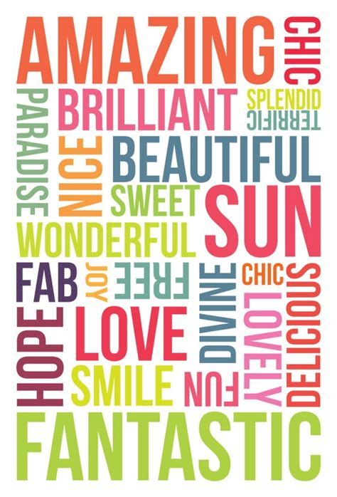 i d a wall in my home with all these positive words printed on all gift ideas