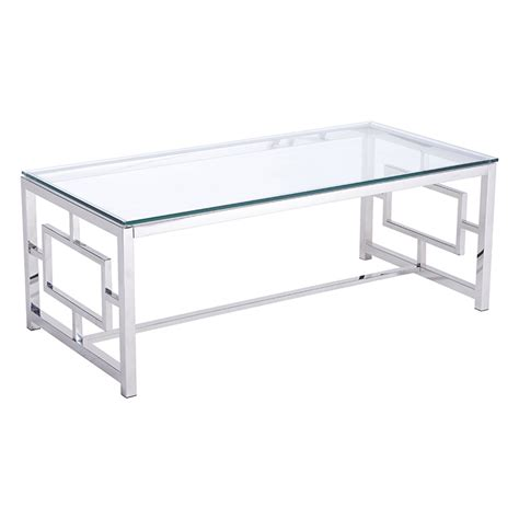 geranium modern coffee table stainless steel