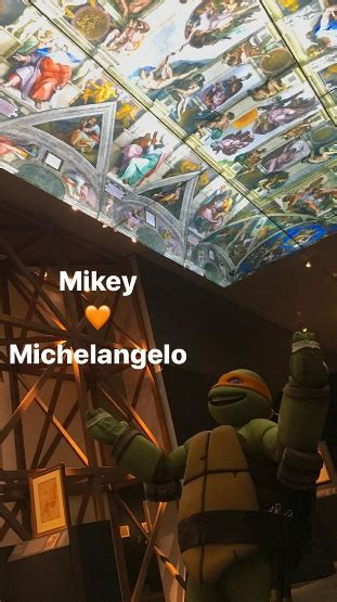 michelangelo draftsman and designer books nickalive tmnt s mikey goes to the michelangelo exhibit