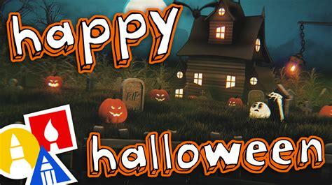 happy halloween  art  kids hub