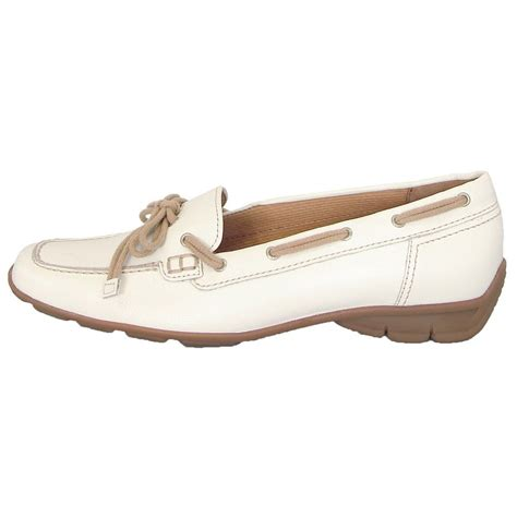 loafer shoes gabor shoes obern womens loafer shoe in white leather