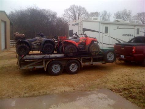my trailer my trailer raxk to carry 4 5 atv s atvconnection atv