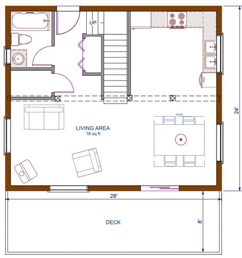 open cottage floor plans log cottage floor plan 24 x28 672 square