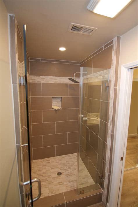 Builders Grade Bathroom by Shower Tile Upgrade Ibgc Inc