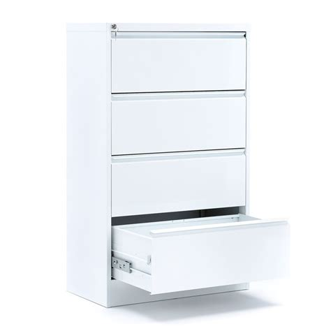 white lateral filing cabinet lateral a4 filing cabinet 4 drawers 800x425x1320 mm