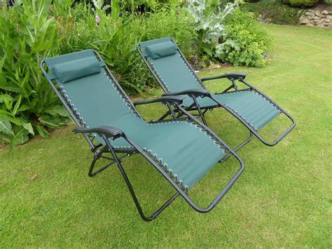 sun lounger recliner chair set of 2 garden chairs green sun lounger recliner chair