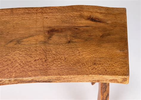 wood slab benches handmade slab wood bench or coffee table at 1stdibs