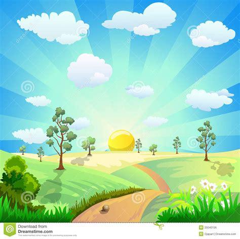 wallpaper cartoon landscape cartoon landscape background royalty free stock image