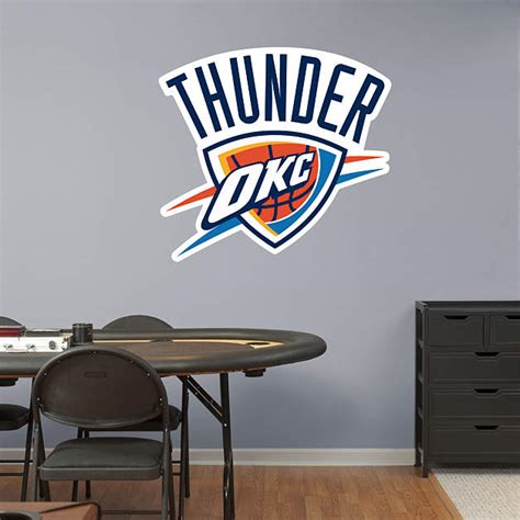 okc thunder home decor oklahoma city thunder logo 14 flagman store