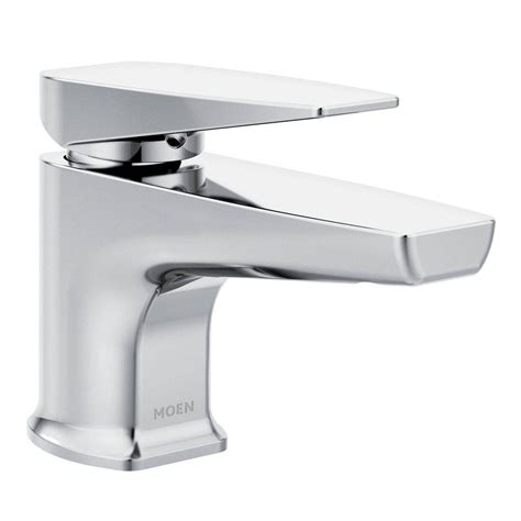 moen via single hole 1 handle bathroom faucet in chrome