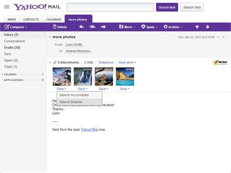 dropbox yahoo yahoo mail teams up with dropbox sitepronews