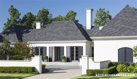 white house grey trim charcoal grey shutters grey roof this scheme house design