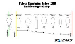 color rendering index select lighting to enhance the true colours of your store