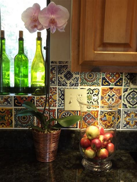 mexican tile kitchen backsplash 29 best images about talavera tiles and stencils on scallops stencils and tile