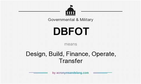 design build definition what does dbfot mean definition of dbfot dbfot stands