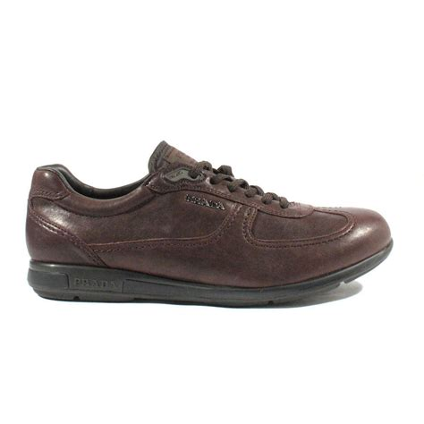 mens prada sneakers prada mens shoes brown nappa aviator six lace up sneakers