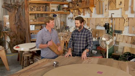 nick offerman woodworking nick offerman offers words of woodworking wisdom while