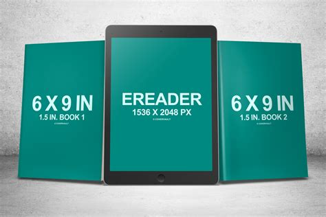 ebook template psd 6 x 9 book series with ereader psd mockup covervault
