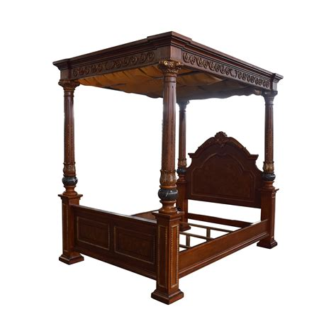 wood canopy bed frame queen 40 off huffman koos huffman koos buckingham carved wood