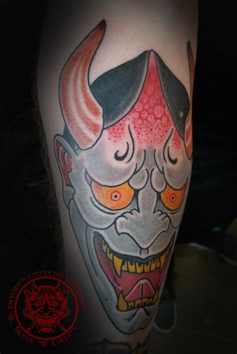 hannya tattoo by glenn collins tattoonow