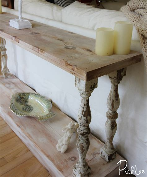 diy sofa table legs diy reclaimed sofa table tutorial picklee