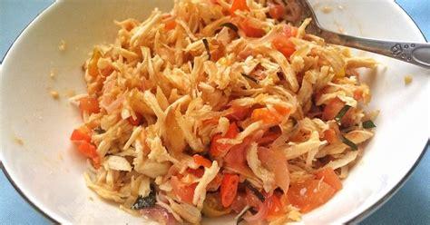 resep ayam suwir sambal matah enak  sederhana cookpad