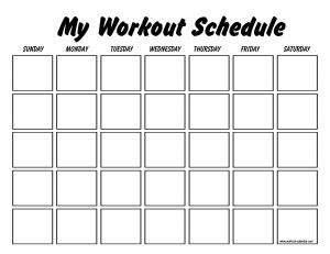 blank workout schedule template free blank workout calendar new calendar template site