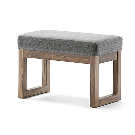 Small Ottoman Bench Milltown Small Ottoman Bench In Grey Bed Bath Beyond