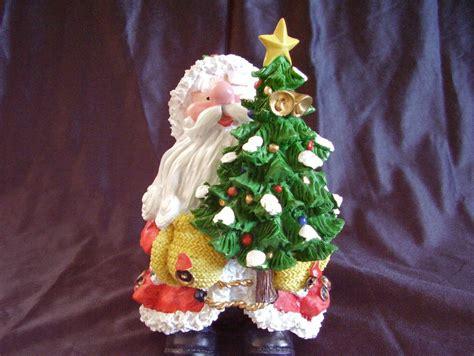 collectible resin santa statue