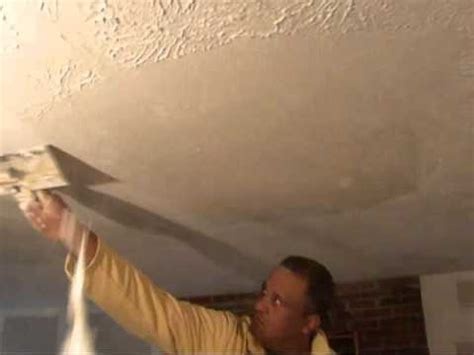 remove textured wall ceilings water damage