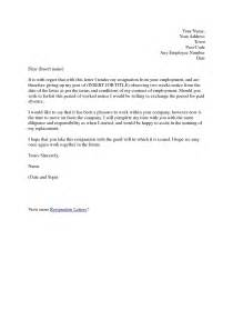 resignation letter format long working letter of