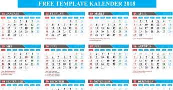 Kalender 2018 Indonesia Gratis Free Template Kalender 2018 Lengkap