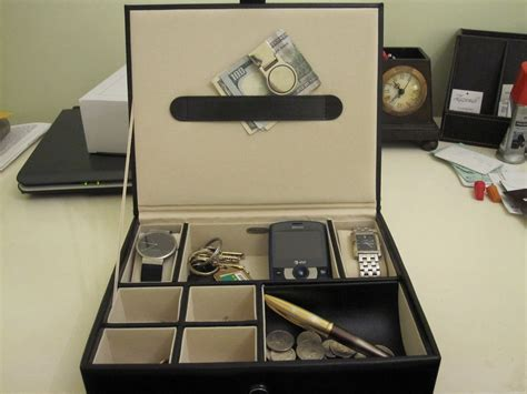 diy mens dresser valet details about black men s 6 compartment valet jewelry