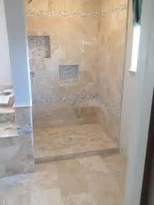 Bathroom Tile Strips Mediterranean Bathroom In Oklahoma City Travertine Tile