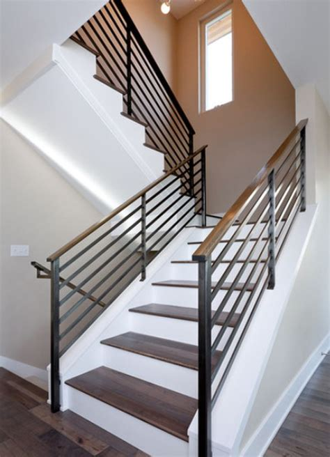 contemporary banister modern handrail designs that make the staircase stand out