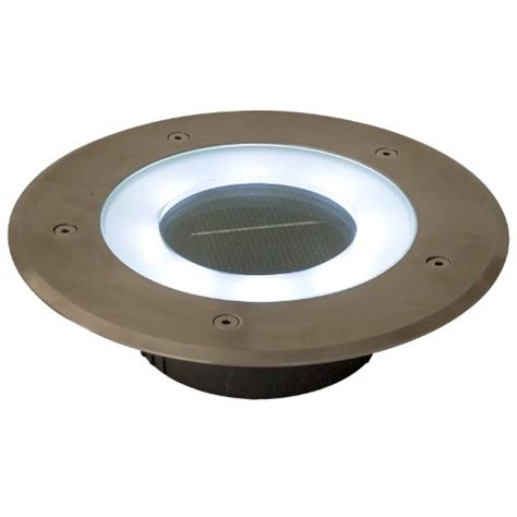 Recessed Patio Lights Commercial Grade 8 Led White Halo Solar Recessed Deck Dock Patio Pathway Accent Light