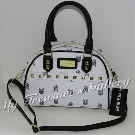 new steve madden mini satchel purse handbag shoulder bag white multi nwt ebay