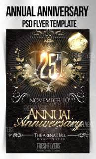 anniversary flyer template free anniversary psd flyer template by imperialflyers on deviantart