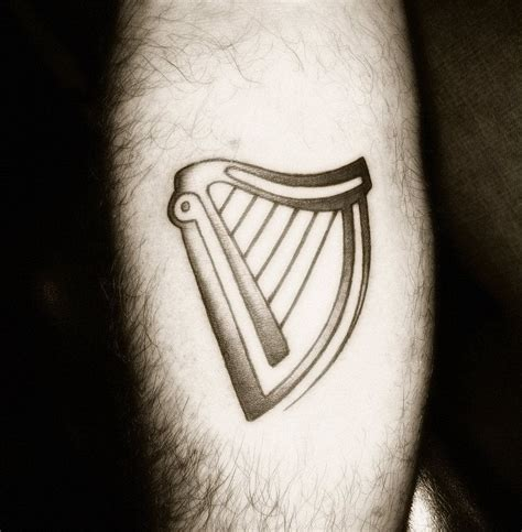 harp tattoo guinness harp i want something to represent my erasmus