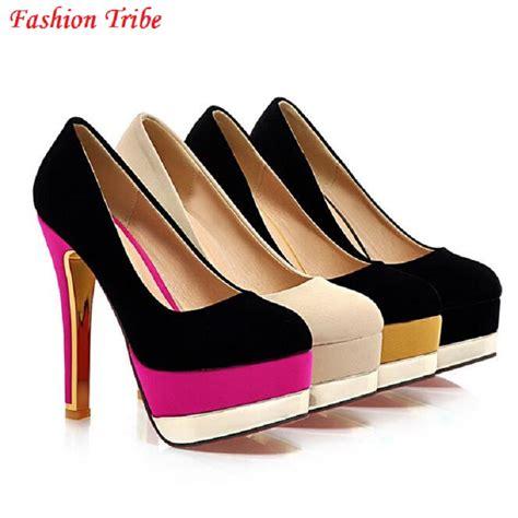 Baru Wedges Wanita Sandal Sepatu Wedges Sdw47 1 ukuran besar eu 32 42 baru 2016 wanita merah bawah sepatu high heels sepatu pernikahan